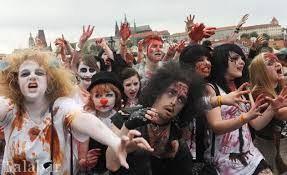 برگزاری مراسم عروسی ترسناک به سبک زامبی ها (عکس)