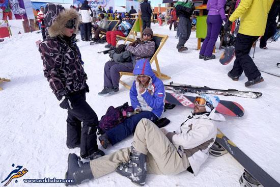 عکس های دیدنی تفریح اسکی در ایران از نگاه رسانه انگلیسی