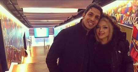 خوشگذرانی سپهر حيدری و همسرش در اسپانیا + عکس