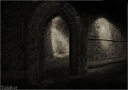 تصاویری از شل گروتو مسیری تزئین شده با صدف
