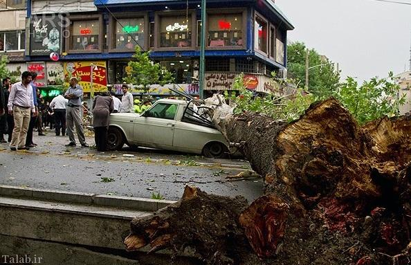 تصاویری از طوفان تهران در سال 93
