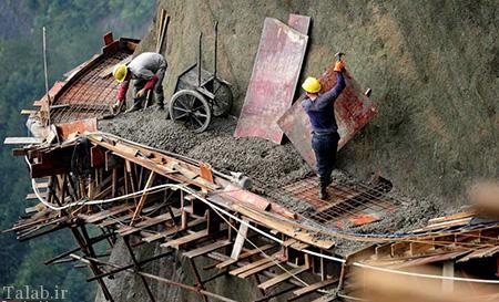 طولانی ترین پل شیشه ای جهان در دست ساخت چین
