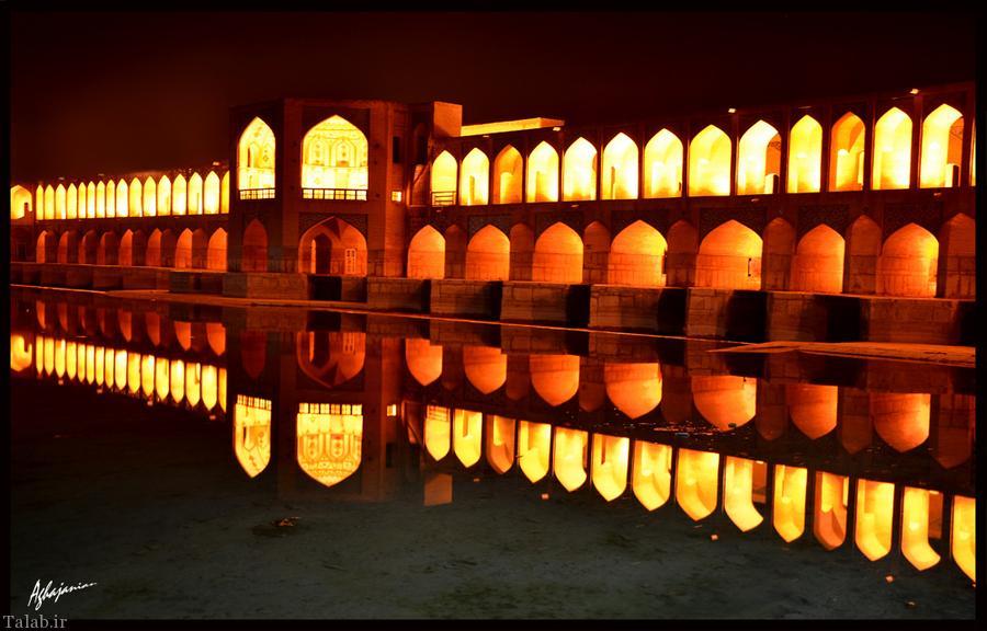 تاریخچه پل خواجو در شهر تاریخی اصفهان + عکس