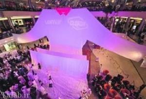 بزرگترین لباس دنیا که 17 متر طول و 400 کیلو وزن دارد