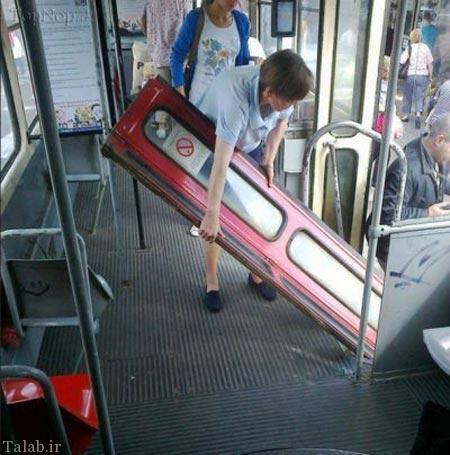 عکس های خنده دار در اتوبوس