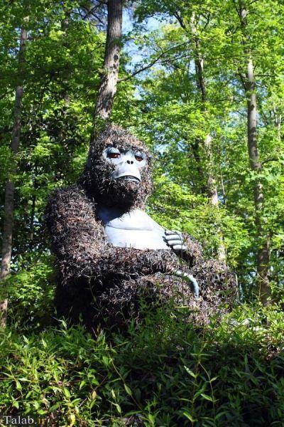 نمایشگاه ساخت مجسمه های بزرگ با گیاهان در امریکا