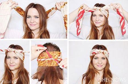 آموزش تصویری بستن روسری و شال