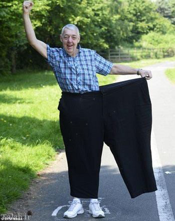 مردی که در طی 18 ماه 90 کیلوگرم وزنش را کم کرد