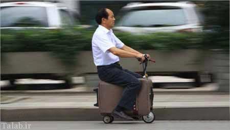 چمدان هایی که صاحبش را حمل می کنند + عکس