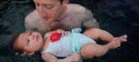 تصاویری از دختر مدیر فیسبوک در حال شنا