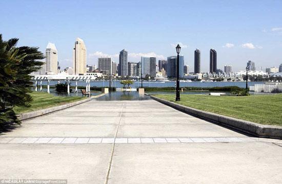 فراگرفتن شهرهای ساحلی آمریکا توسط آب (+تصاویر)