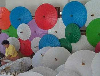 هنر چتر سازی در کشور تايلند + تصاویر