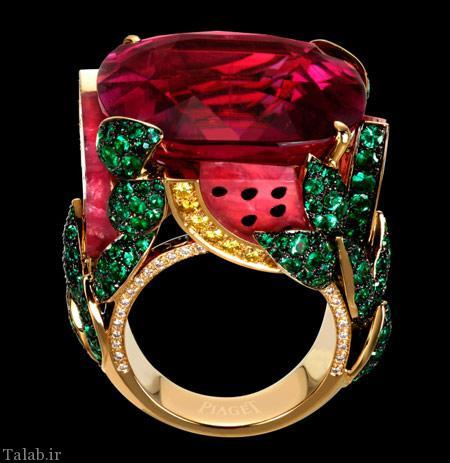 مدل انگشتر های جواهر نشان شیک 2016