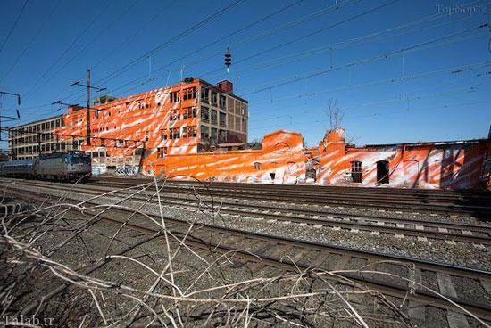 هنری زیبا در مسیر راه آهن + عکس