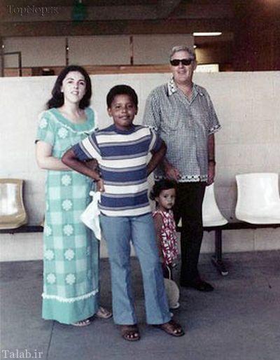 عکس های باراک اوباما از کودکی تا جوانی