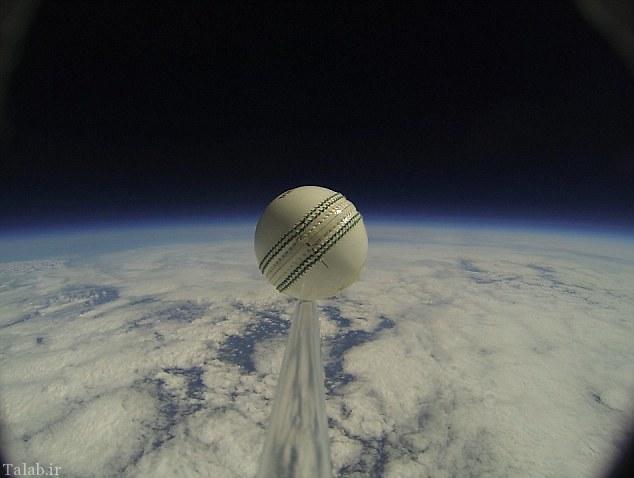 یک توپ ورزشی راهی فضا شد + تصاویر