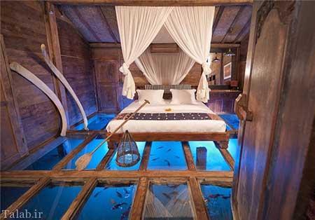 تصاویری از ساخت هتلی عجیب در بالای یک برکه