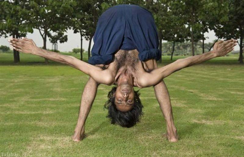 مردی عجیب با بدن فوق العاده انعطاف پذیر + عکس