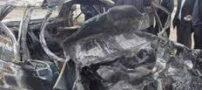 خانواده 4 نفره در حادثه رانندگی در آتش سوختند!