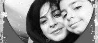 تصاویری از سیما تیرانداز و پسرش