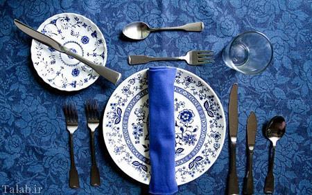 آموزش اصول چیدمان میز غذا