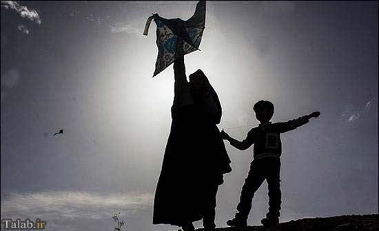 مردمی که بر فراز آسمان تبریز بادبادک هایشان را به هوا فرستاند