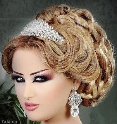 مدل های شینیون موی عروس و آرایش عروس (3)