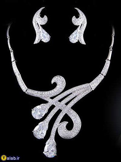 نمونه ی بسیار شیک از سرویس طلا و جواهر