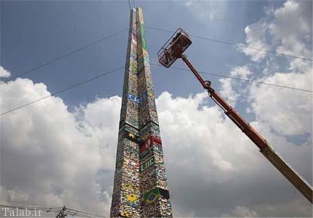 ساخت بلندترین برج لگویی جهان توسط ۵ هزار دانشآموز + عکس