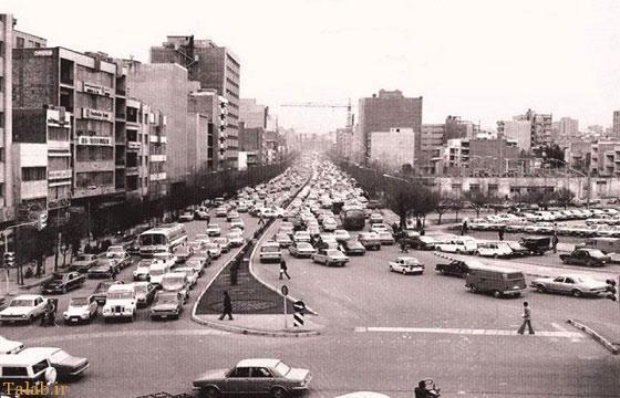 پارک خودروها در وسط خیابان در تهران قدیم !+ عکس