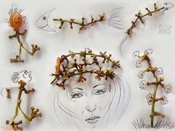 عکس های دیدنی از ترکیب اشیا با نقاشی