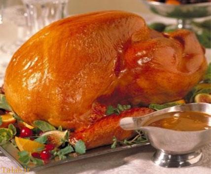 طرز تهیه مرغ شکم پر مازندرانی