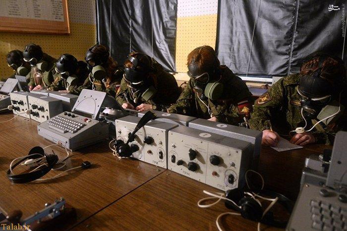 عکس هایی از زنان ارتشی روسیه در هوای برفی