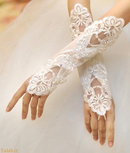 مدل های بسیار شیک و زیبای دستکش عروس