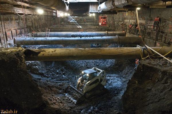 تصاویری از ساخت خطوط بیشتر برای متروی نیویورک