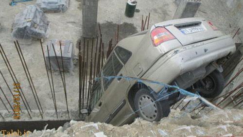 خوش شانس ترین راننده پراید + عکس