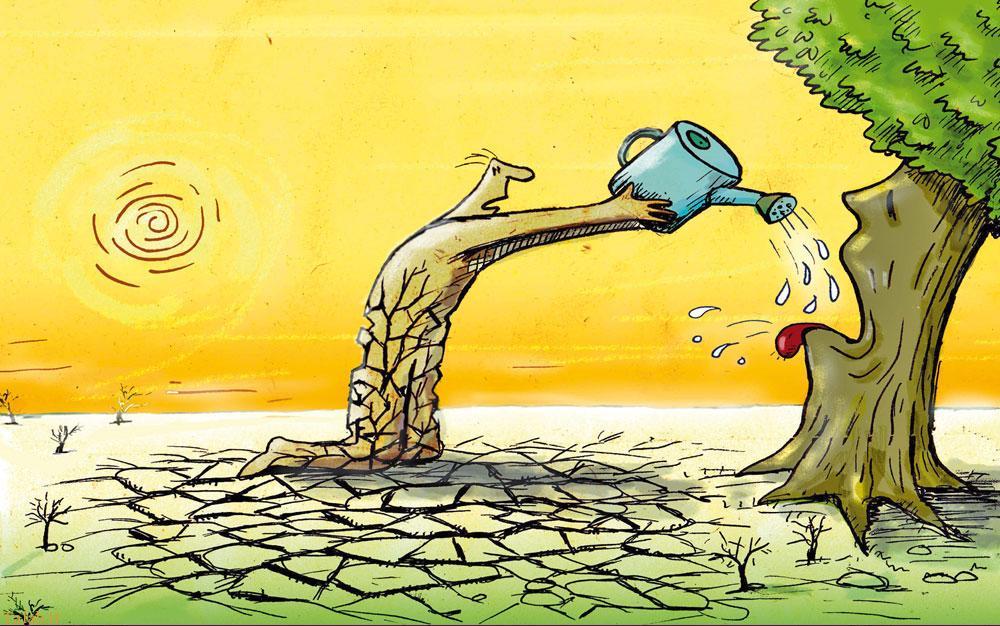 کاریکاتور های مفهومی روز درختکاری