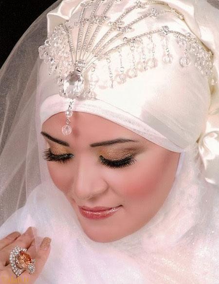 مدل های زیبای تاج و تور عروس محجبه