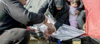 زایمان زنی در شرایط سخت مرزی (+عکس)