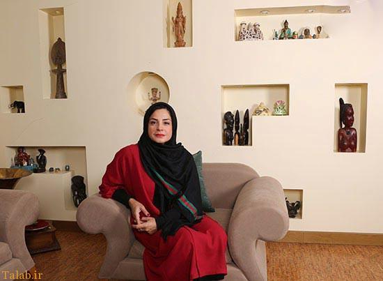 مصاحبه خواندنی با سیما تیرانداز در خانه فوق العاده زیبایش