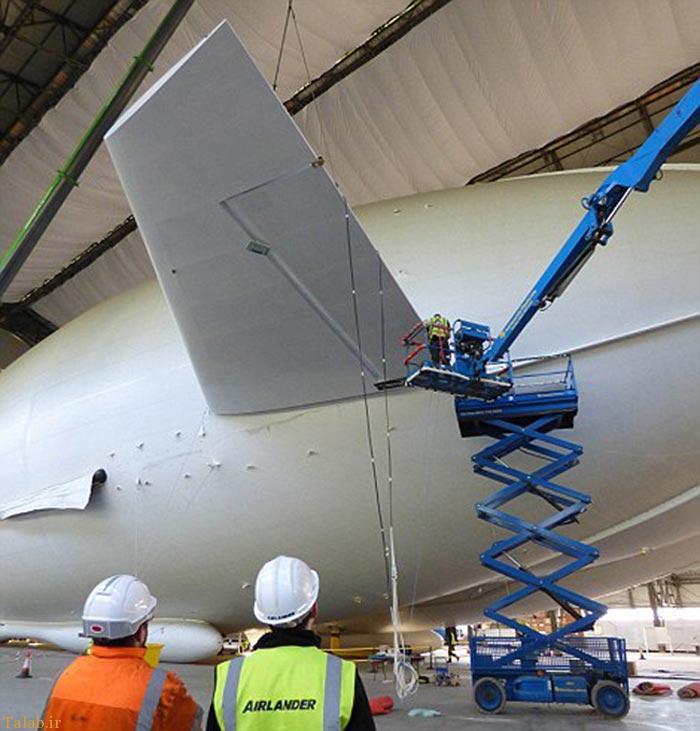 پرواز بزرگترین هواپیمای جهان بنام ایرلندر 10 + عکس