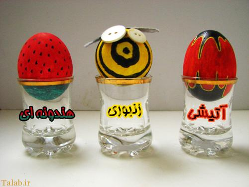 خلاقانه ترین نمونه های تزئین تخم مرغ