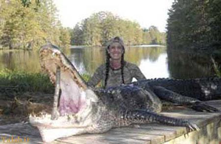 دختر زیبای شکارچی قاتل بی رحم حیوانات