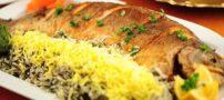 طرز پخت سبزی پلو ماهی شکم پر شب عید