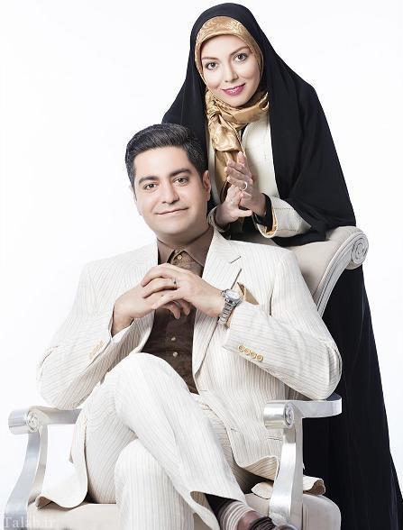 عکس ابراز عشق آزاده نامداری به همسرش