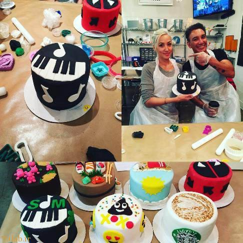 کیک پزی شادمهر عقیلی و همسرش