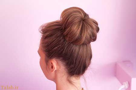 بهترین آموزش تصویری بستن مدل موی گوجه ای