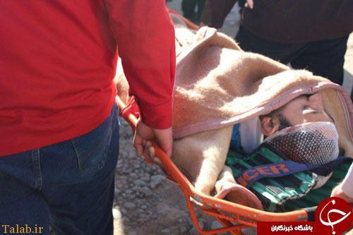 تصاویر سقوط پسر جوان از کوه طاق بستان