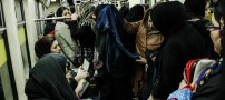 زنان دستفروش در متروی تهران (عکس)