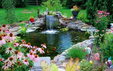 زیبا سازی فضای حیاط به سبک بهاری